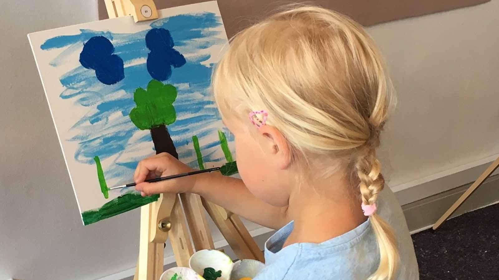 Kunstworkshop for børn og unge på Malergården