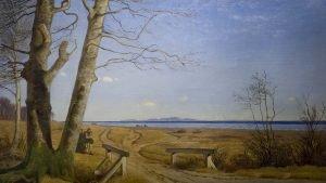 Lundbye_Vinterlandskab-uden-sne_1848_-Skovgaard-Museet