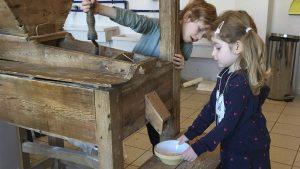 Kornværksted for børn på Ringsted Museum